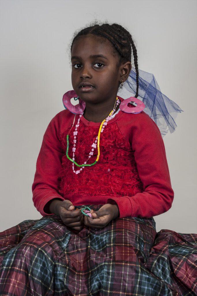 Lidia 5 jaar gr.2 Ethiopië 4 jaar in Nederland, heel lang in Katwijk.